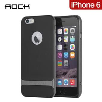rock royce coque noire et grise pour iphone 6 4 7 39 39 etui pour t l phone mobile achat prix. Black Bedroom Furniture Sets. Home Design Ideas