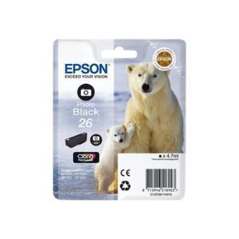Epson 26 - photo noire - original - cartouche d'encre