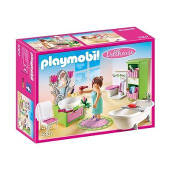 playmobil dollhouse 5307 salle de bains et baignoire. Black Bedroom Furniture Sets. Home Design Ideas