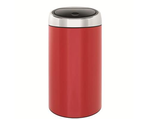 Touch Bin 45 Liter.Poubelle Touch Bin De Luxe 45 L Rouge Achat Prix Fnac