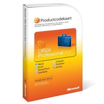 MICROSOFT OFFICE PRO 2010 NL PC ATTACH MICROCASE
