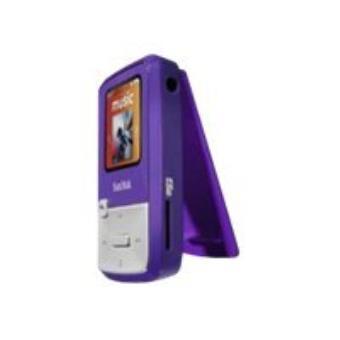 SANDISK SANSA CLIP ZIP FM 4GB PURPLE