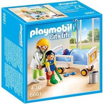 Playmobil City Life 6661 Chambre d\'enfant avec médecin - Playmobil ...
