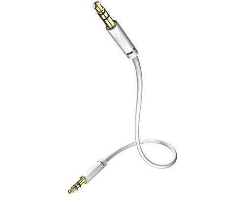 In-akustik - star - câble audio mp3 - jack 3,5 mm   jack 3,5mm - blanc - 0,75 m