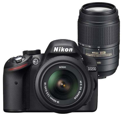 c064b7be7f86 Nikon D3200 + 18-55 + 55-200 Cámara Réflex