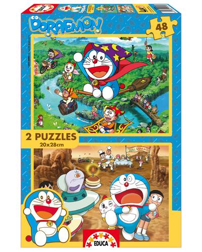 Doraemon  Puzzle  Doraemon 2X48  Sinopsis y Precio  FNAC