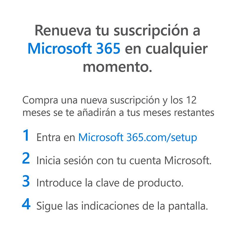 Microsoft 365 - Renovación