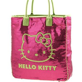 e5a8312602 Grand sac shopping Hello Kitty Sequins rose By Camomilla