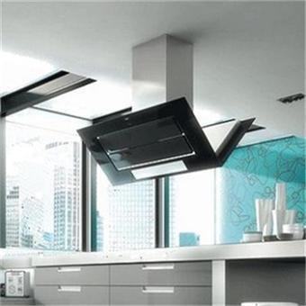 roblin hotte ilot 6060105 inox verre noir achat prix fnac. Black Bedroom Furniture Sets. Home Design Ideas