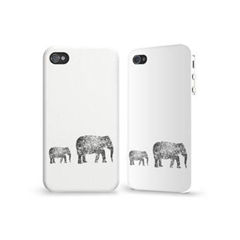 Coque iPhone 4 4S HD Elephant par caseable