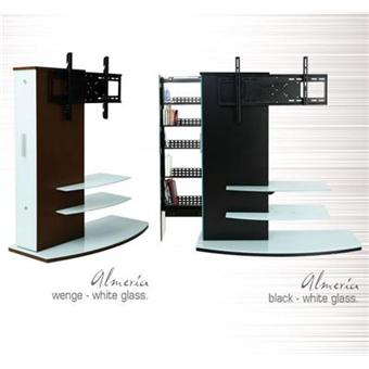 casado almeria stand 1110wg meuble tv fixation murale rotatif 90 2 tablettes blanches. Black Bedroom Furniture Sets. Home Design Ideas