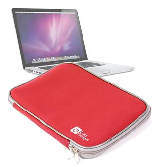 la meilleure attitude 6ebfb e9994 Housse étui de protection néoprène rouge pour MacBook Pro 15 pouces -  DURAGADGET