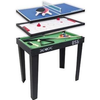 mt cr ations table de jeux 3 en 1 avec pied ping pong. Black Bedroom Furniture Sets. Home Design Ideas