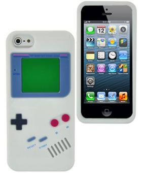 Houe Coque blanche aspect Game Boy iPhone 5