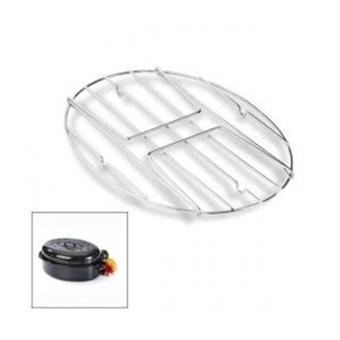 Graniteware grille ROASTER Cocotte ovale en acier carbon 38x26cm 0508+2006