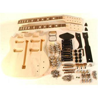 Guitare Electrique Double Manche 6 12 Cordes A Finir Soi Meme Montage Peinture Guitare Electrique Top Prix Fnac