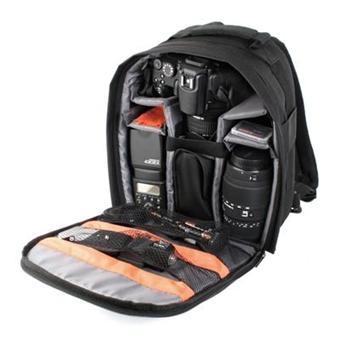 acheter en ligne fffdc e182b DURAGADGET Sac à dos appareil photo rembourré en nylon résistant pour Nikon  D5000, D5100, D3100