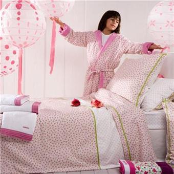 housse de couette enfant paradis des papillons catimini 140 x 200 cm textile de chambre. Black Bedroom Furniture Sets. Home Design Ideas