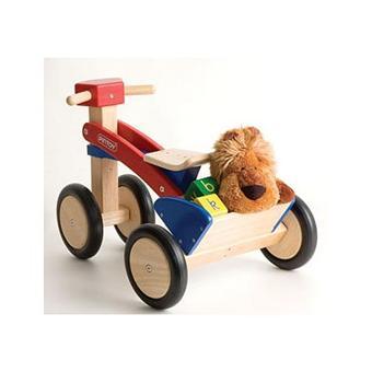 pintoy tricycle en bois rouge et bleu achat prix fnac. Black Bedroom Furniture Sets. Home Design Ideas