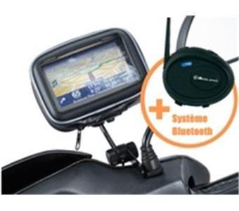 support moto et scooter oreillette bluetooth pour gps. Black Bedroom Furniture Sets. Home Design Ideas