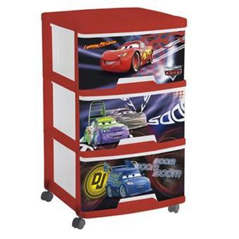 Curver - Tour de rangement 3 tiroirs Cars - Coffre à jouets et rangements - Achat & prix   fnac