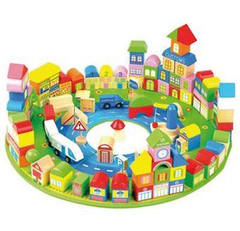 jeux de construction la ville en bois 138 pieces jeux d 39 veil achat prix fnac. Black Bedroom Furniture Sets. Home Design Ideas
