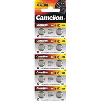camelion lot de 10 pile bouton alkaline ag10 lr54 389 sr1130w 189 piles. Black Bedroom Furniture Sets. Home Design Ideas