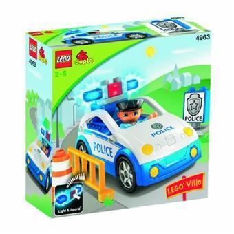 duplo 4963 premier ge la voiture de police lego achat prix fnac. Black Bedroom Furniture Sets. Home Design Ideas