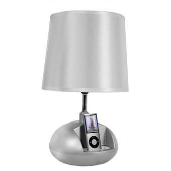vibe v64 argent lampe de chevet 65w avec station d. Black Bedroom Furniture Sets. Home Design Ideas