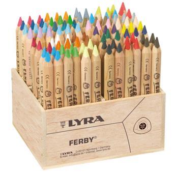 Lyra Crayon De Couleur Ferby Bois Naturel Presentoir De 96