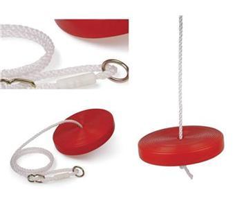 accessoire portique balancoire rouge en plastique ronde et cordage nylon avec anneau acier. Black Bedroom Furniture Sets. Home Design Ideas