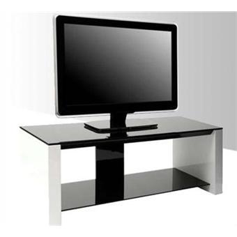 magasin en ligne ca1c3 1099b ERARD - Meuble TV - 2 plateaux - Blanc laqué - SMART