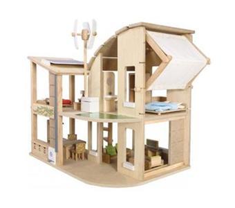 9 66 Sur Plan Toys Maison Ecologique Meublee Maison De Poupee Achat Prix Fnac