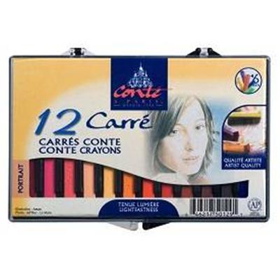 Boite 12 Conte portrait carre couleur