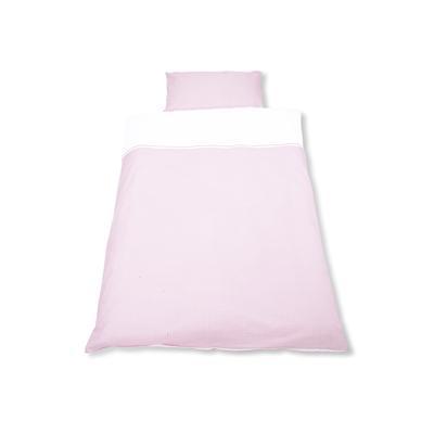 PINOLINO Vichy carreau rose - Linge de lit, 2 pièces