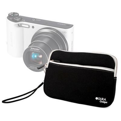 DURAGADGET étui noir + poignée pour Samsung Smart Camera WB150F WB200F & WB250F