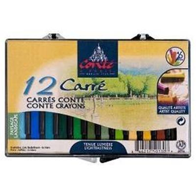 Boite 12 Conte Paysage carre couleur