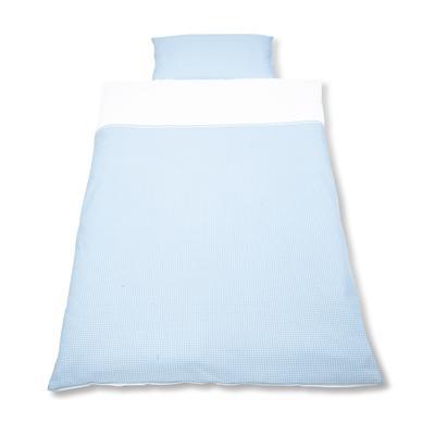 PINOLINO Vichy carreau bleu - Linge de lit, 2 pièces