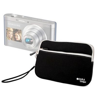 DURAGADGET étui noir + poignée pour Samsung Smart Camera DV300F & DV150F