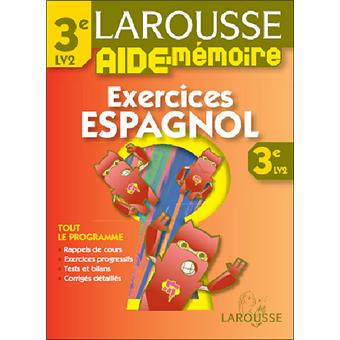 Exercices Espagnol 3e Lv2
