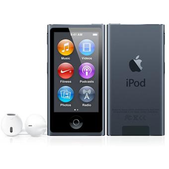 apple ipod nano vii 16 go slate graphite lecteur mp3. Black Bedroom Furniture Sets. Home Design Ideas