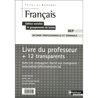 Francais Bep Text Met Pro Tra