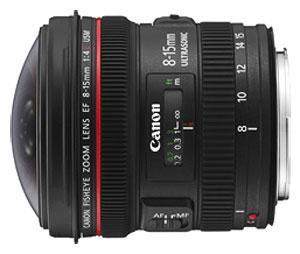 Canon EF breedhoekzoomlens - 8 mm - 15 mm