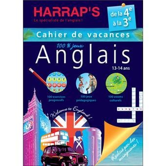Harrap's cahier de vacances Anglais 4ème/3ème