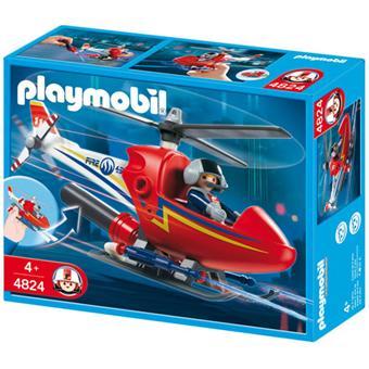 playmobil 4824 hlicoptre de pompier - Playmobil Pompier