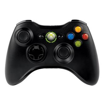 Manette Xbox 360 sans fil noire – Manette Xbox 360 noire Microsoft