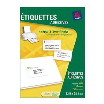 Avery Etiquettes Adresse J8160-12