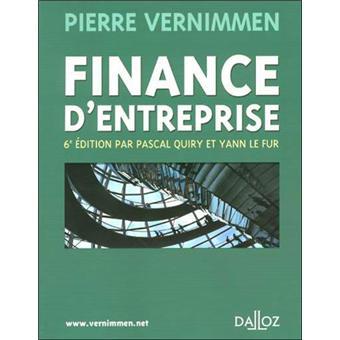 Vernimmen Pierre Finance D Entreprise Pdf