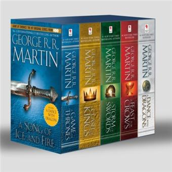 Game Of Thrones 5 Book Boxed Set Song Of Ice And Fire Series A Game Of Thrones A Clash Of Kings A Storm Of Swords A Feast For Crows And A Dance