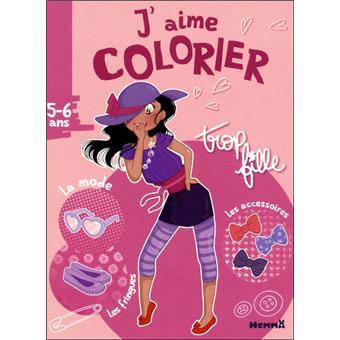 J Aime Colorier Trop Fille